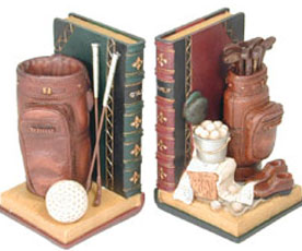 Classic Golf Design Bookends